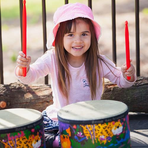 Lady Forster Kindergarten - Child Playing Drums